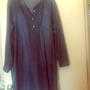 Plus Size Chambray Dress